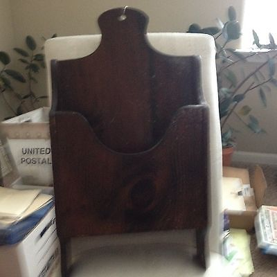 wood magazine rack vintage