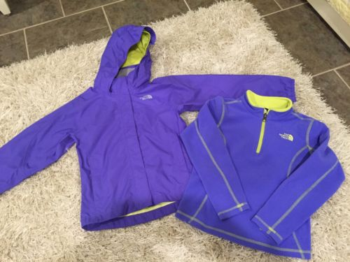 Northface Resolve Rain Jacket Coat 1/4 Zip Fleece XS 6