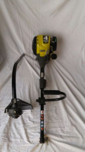4 cycle Ryobi curved shaft gas trimmer