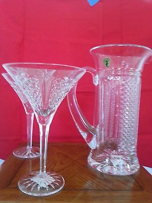 WATERFORD SOCIETY DESMOND MARTINI PITCHER AND MARTINI PAIR