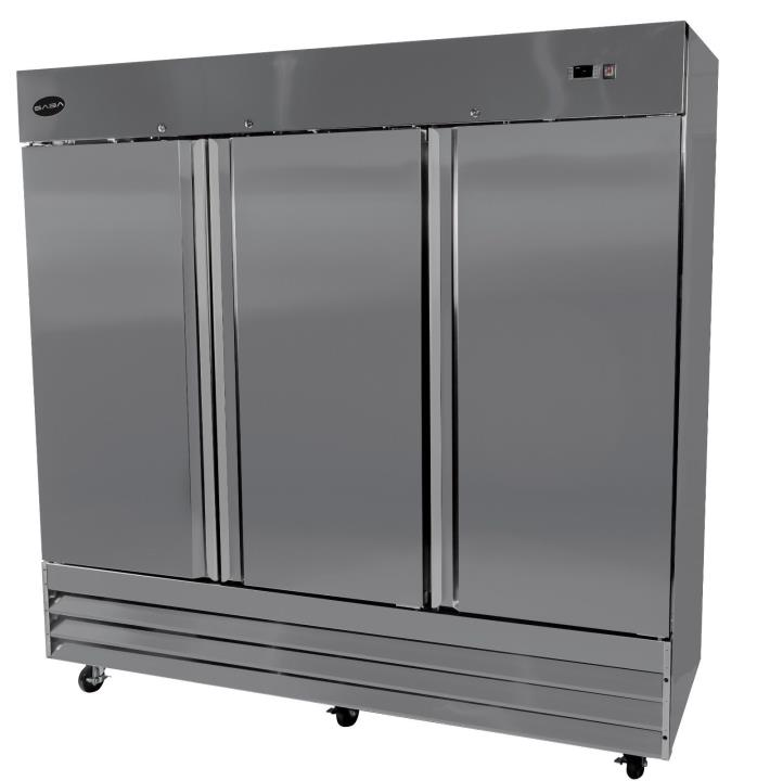 SABA Heavy Duty Commercial Reach In Freezer (Three Door, Stainless Steel)