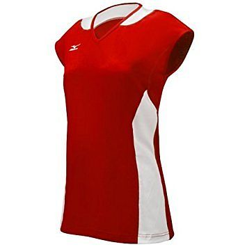 205622 Mizuno Women's Classic Mystic Cap Sleeve Jersey, Red/White, X-Large...