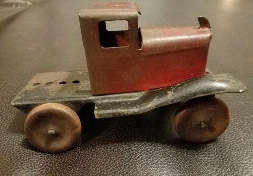 Antique metal toy truck