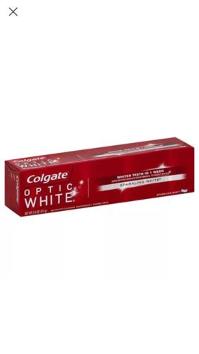 Colgate Optic White Anticavity Fluoride Toothpaste Sparkling Mint, 5 oz (6 pack)