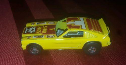 1970s Hot Wheels Blackwall Show Hoss II funny car yellow mustang Hong Kong