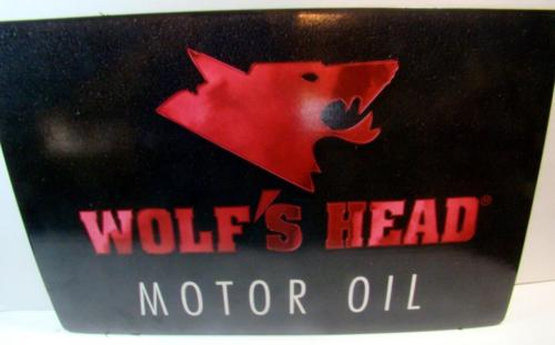 Vintage Wolf's Head Motor Oil Part Store Gas Oil 19