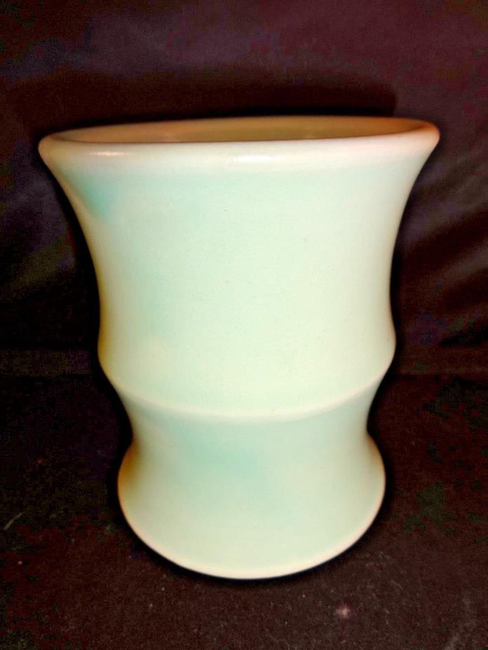 Vintage Pottery Vase Nice Aqua Blue Green