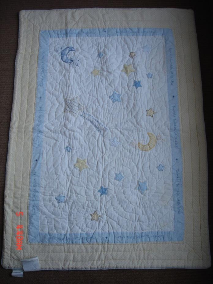 Pottery Barn Kids Twinkle Little Star Crib Baby Quilt