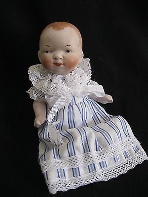 ANTIQUE GERMAN LIMBACH ALL BISQUE BABY, Dressed