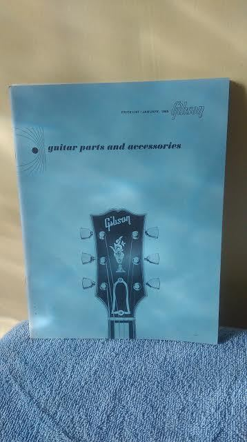 Gibson Catalog All Hardware Guitar Parts List Vintage 1960s No Pictures. Nice!