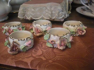 Spielwaren Szalasi Rose Napkin Rings Rare