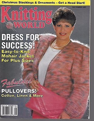 Knitting World Sept 1991 Machine Knitting   #270