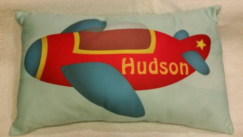 Hudson Airplane Pillow Nursery Decor