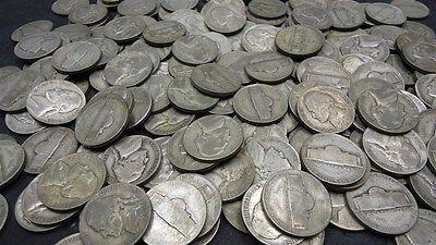 Lot of 120 Three Rolls 35% Silver War Nickels 1942-1945 Bullion US Coins (02)