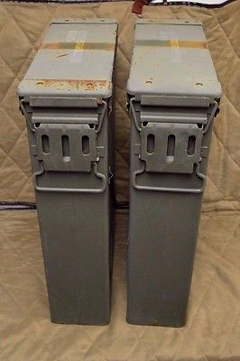 (2 Pack) 81MM AMMO CANs VERY GOOD CONDITION * FREE SHIPPING *