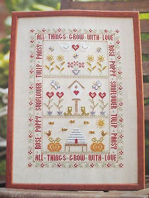 Cross Stitch Garden Sampler Picture - PATTERN ONLY