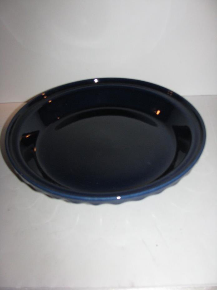 Fiesta Dinner Ware, Deep Dish Pie Baker, Pie Pan, Cobalt Blue, New Seconds
