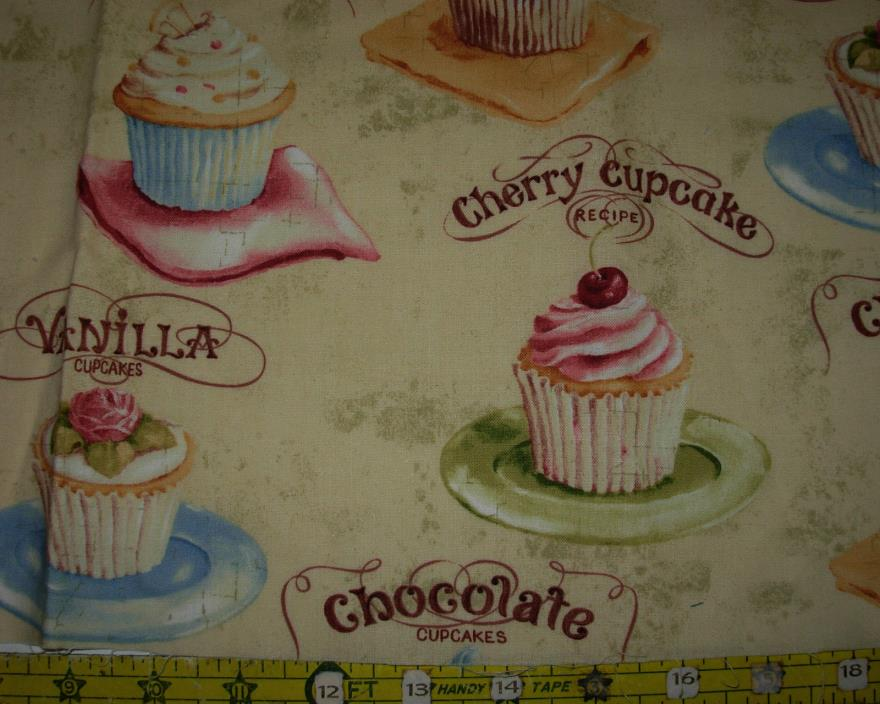 FABRIC -  15 FOOD OR KITCHEN  REMNANTS   - 4 YARDS +