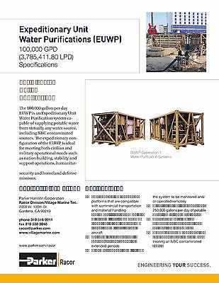 Water desalination and purification system100,000 GPD/day