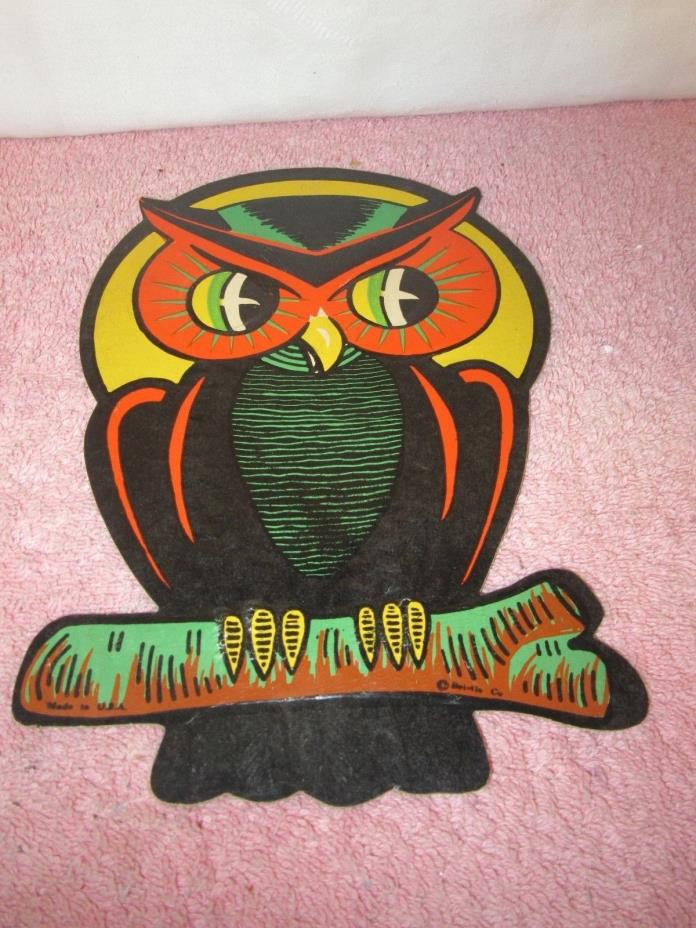 Vintage Beistle Die Cut Halloween Decoration - Hoot Owl