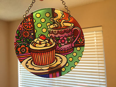Cupcakes Suncatcher Medium Round New Home Decor