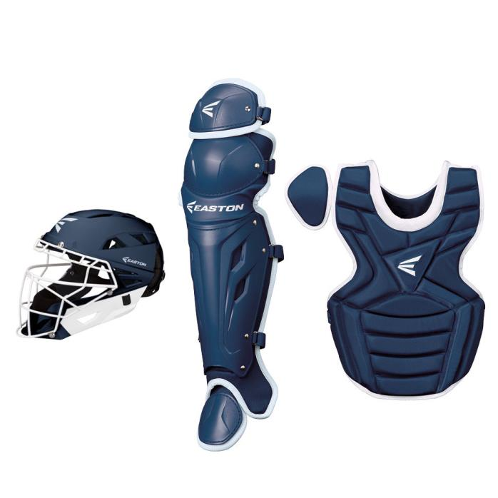2017 Easton M7 Youth Fastpitch Softball Catcher Set NAVY/WHITE Ages13-15