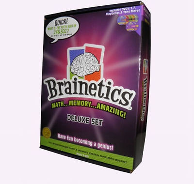 BRAINETICS DELUXE SET MATH MEMORY SYSTEM CARDS & MANUAL DVD'S 1-7 BOXED NEW PRIO