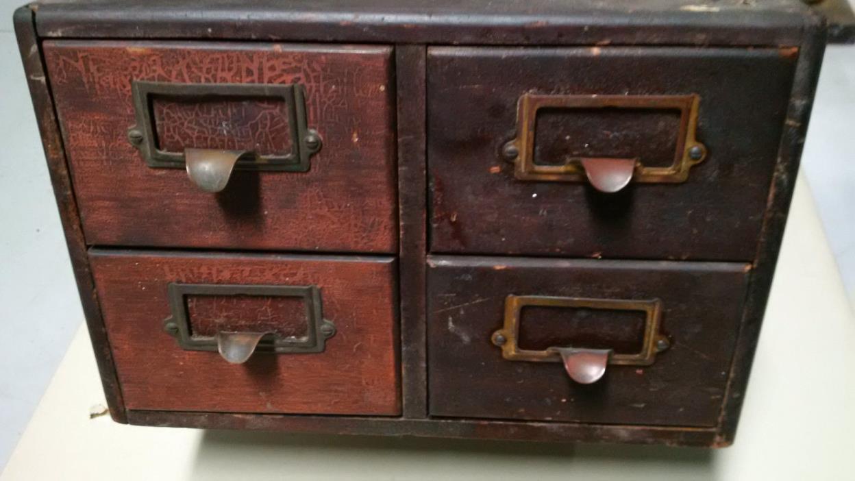 Library card catalog mahogony cabinet