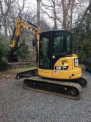 cat 305 ecr mini excavator, drops, thumb, coupler