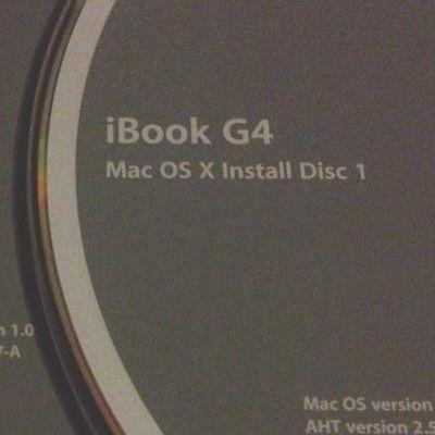 Tiger 10.4.2 for iBook G4 as per description