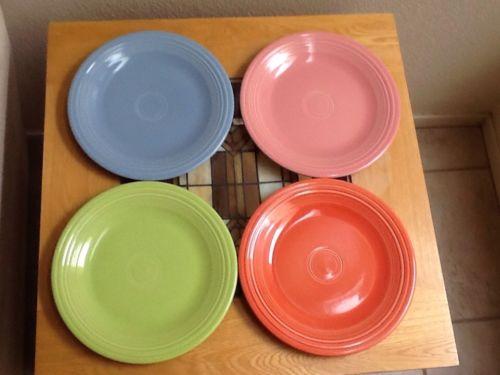 4 Fiestaware Fiesta Ware Dinner Plate 10 & 1/2