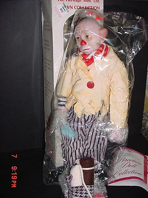 HERITAGE MINT PORCELAIN DOLL COLLECTION CLOWN BEN D-17