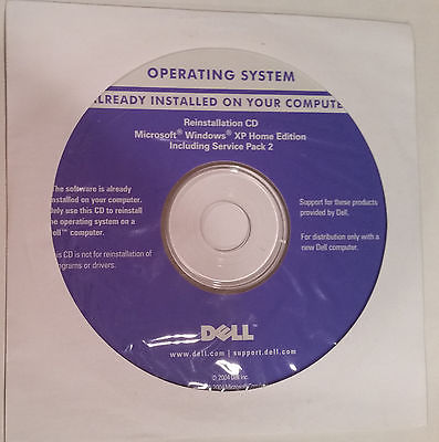 WINDOWS XP HOME EDITION SP2 DELL REINSTALLATION CD WITH BROKEN DELL LAPTOP