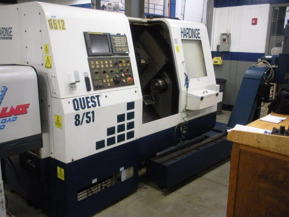 HARDINGE Quest 8/51 CNC Turning Center, Lathe, with Sub Spindle and Live Tool
