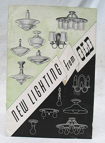 Vintage New Lighting From Old Advertising Brochure Catalog
