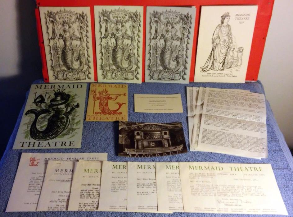 Lot of 1950's The Mermaid Theatre (UK) in St. John's Wood Collection - RARE