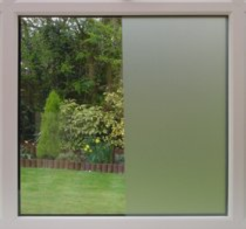 White Frost Privacy Window Film - Size 24