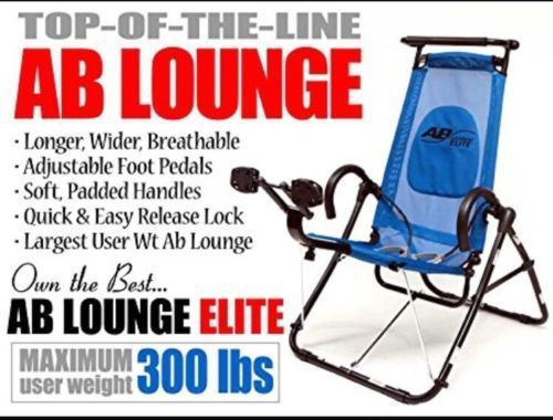 AB LOUNGE ELITE Abdominal Workout Chair Exerciser Core Trainer Machine