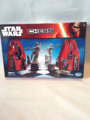 Star Wars Chess Board Family Game Set Disney Hasbro The Force Awakens Boba Fett