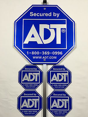 ADT Security Alarm Yard Sign & 4 Stickers - Reflective, Waterproof