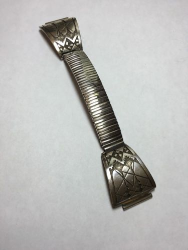 Abraham Begay Navaho Sterling Silver  Watch Tips.