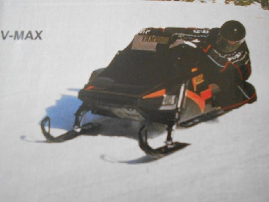1987 BUYERS GUIDE Vintage SNOWMOBILE MAGAZINE Yamaha VMax 540 Polaris Indy 600