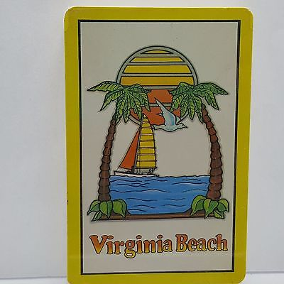 Virginia Beach Playing Cards Sealed Vintage Sailboat