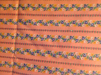 Vintage Fabric Cotton 4 Yards 44 inches Wide