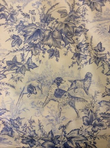 5 1/2 Yards BRUNSCHWIG FILS Hunting Scene Toile Dogs