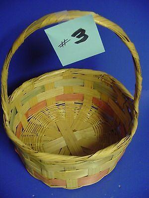 Vintage Woven Wicker Large Easter  Basket  # 3
