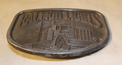 Vintage Raleigh Lights Trucking Semi Truck Tractor Trailer Belt Buckle