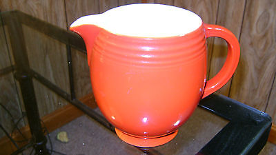 Hall China red pitcher