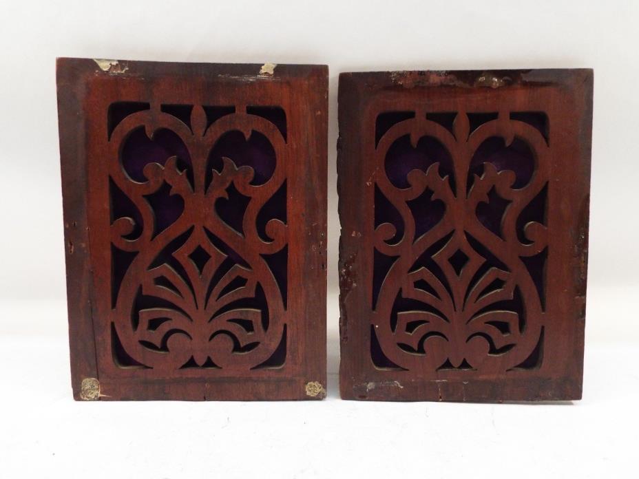 Antique Hamilton Pump Organ Wood Decorative Panels Parts Crafts Repurpose