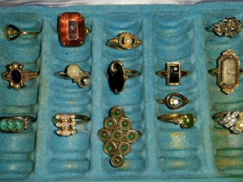 Vintage Avon Ring Collection 15 Pc.
